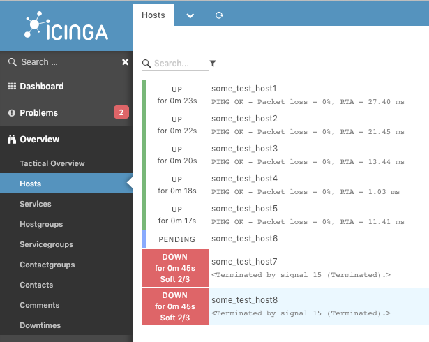 Restarting Icinga service causes lots of alerts (systemd