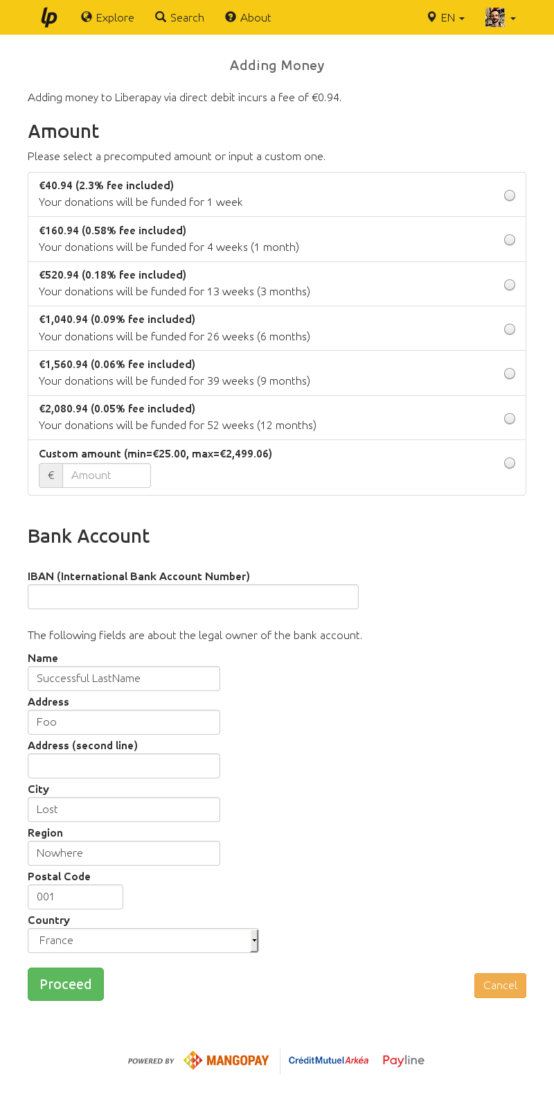 Direct Debit Form | Implement Payin By Direct Debit Issue 57 Liberapay Liberapay