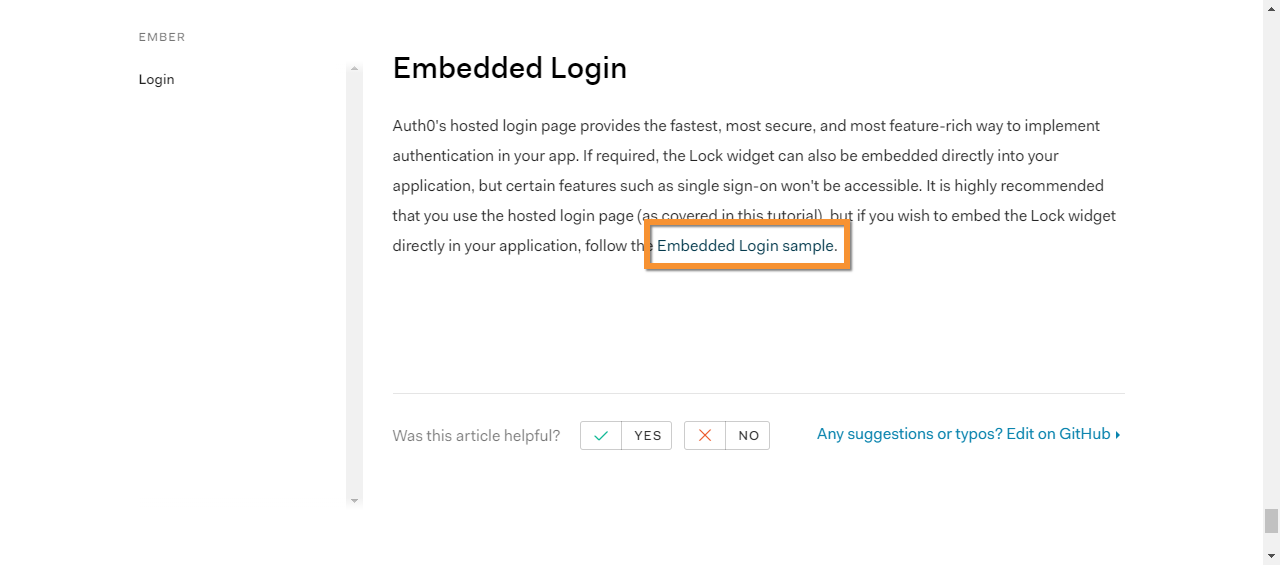 SPA Ember js: No readme in Embedded-login sample · Issue #97