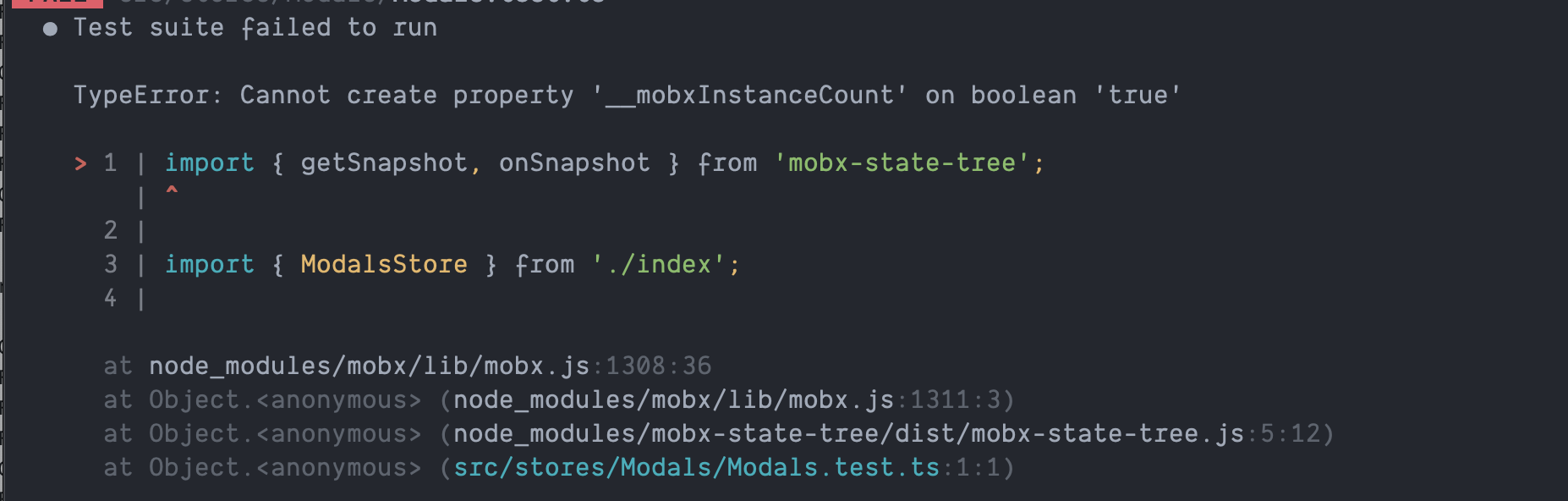 There are multiple mobx instances active' error caused by