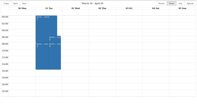 React Big Calendar.Intljusticemission Bountysource