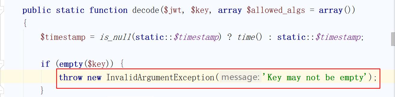 when key is empty,decode report an error,but encode not