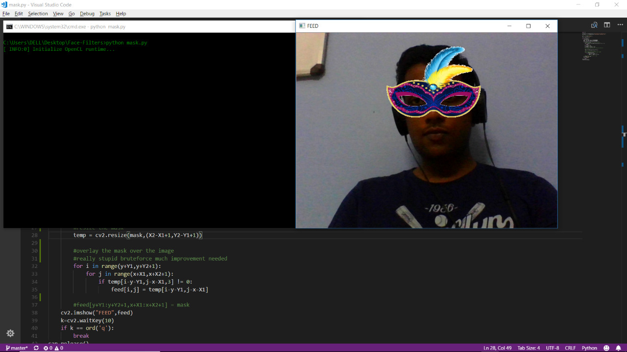 GitHub - MrGrayCode/Face-Filters: Snapchat like filters