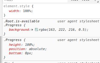 Chrome treats styles as `user agent stylesheet` when `reloadStrategy