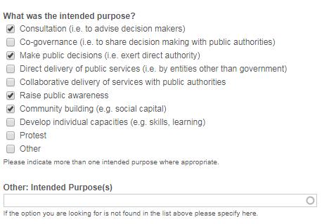 data fields for purpose