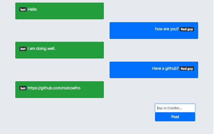 GitHub - rodcoelho/flask-chatbot: ChatBot recreated on Flask, using