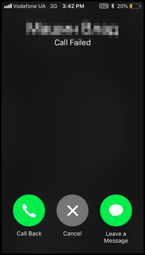 screenshot of facetime