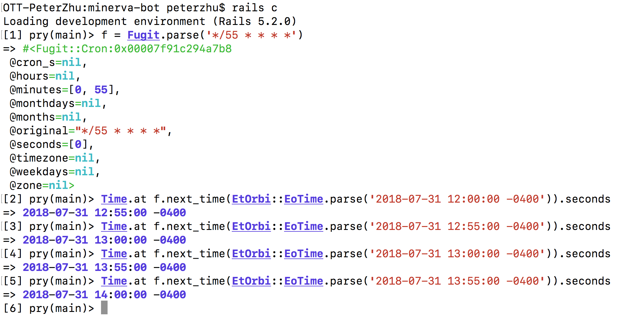 Every x minute is parsed incorrectly for cron · Issue #8