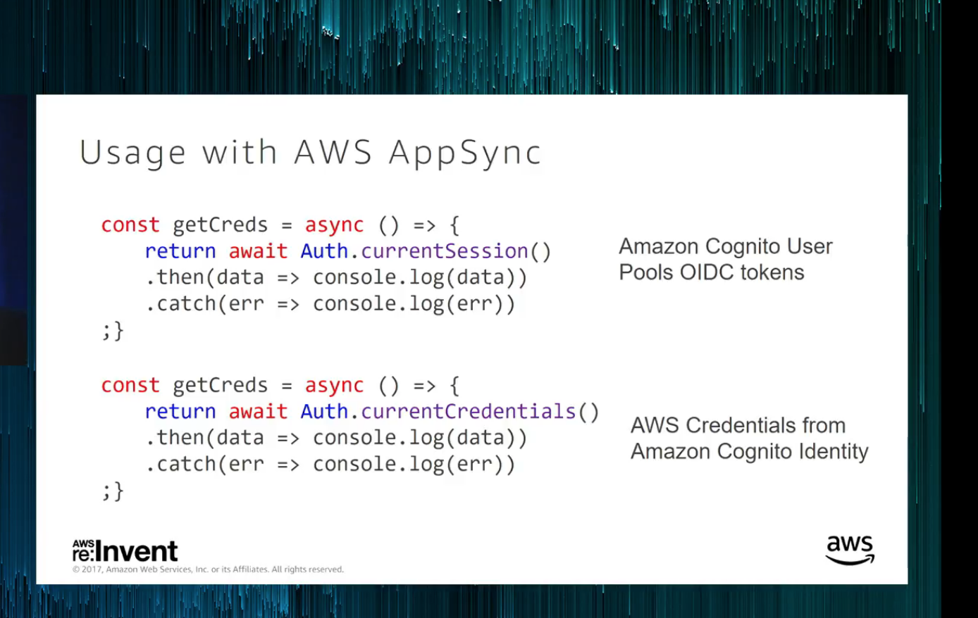 Appsync Authentication - AWS Cognito User Pools with AWS