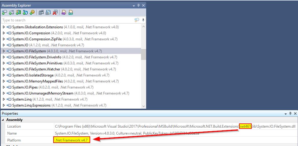 dll in Microsoft NET Build Extensions\net461 targets  NET
