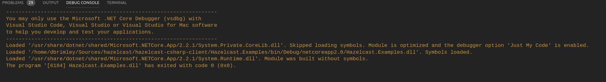 Ubuntu Debug Issue : You may only use the Microsoft  NET
