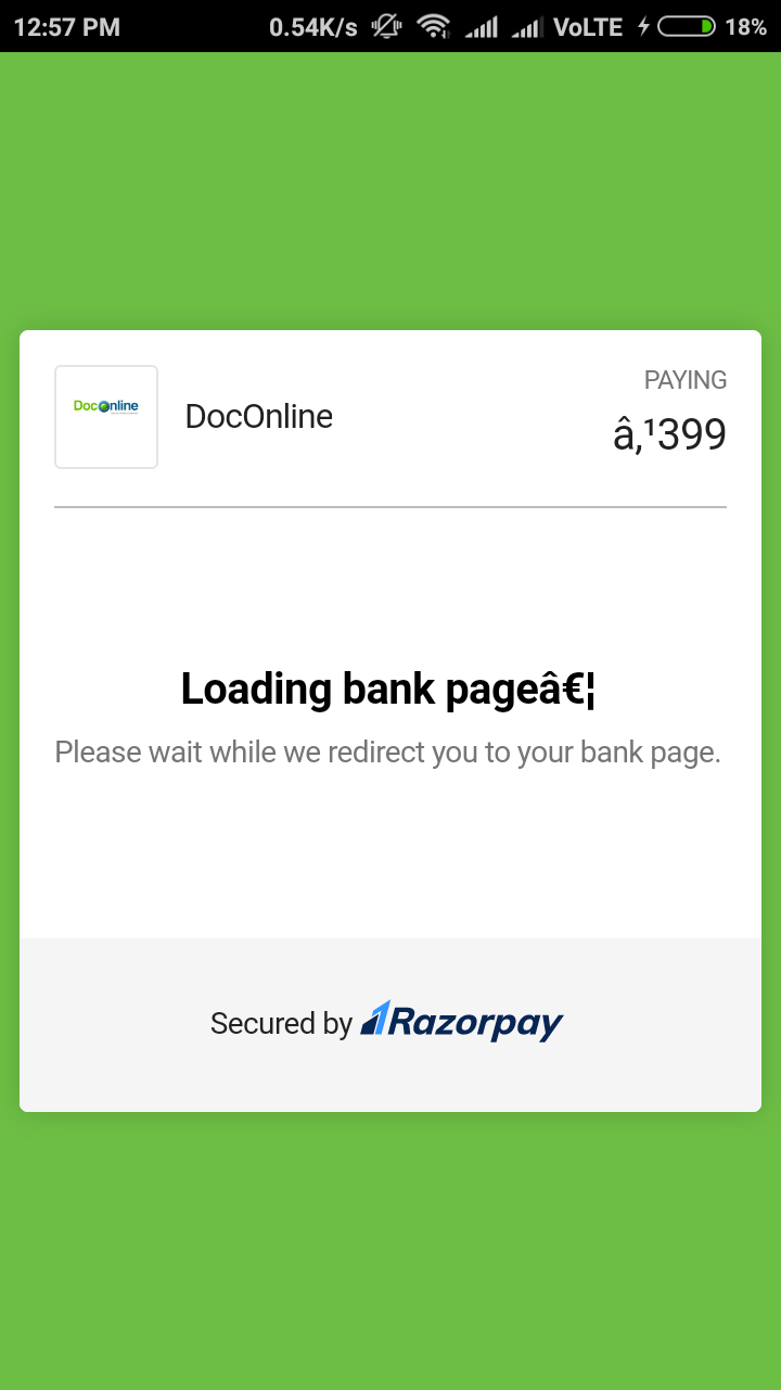 Payment stuck on Redmi device while loading bank page · Issue #77