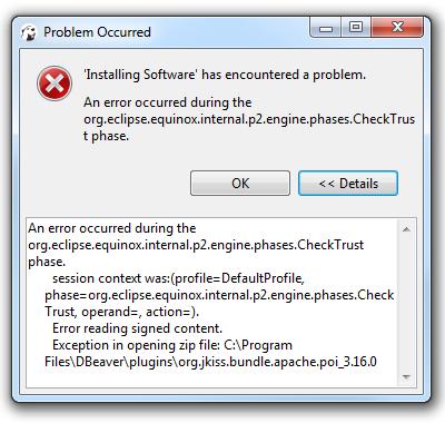 Upgrading DBeaver breaks the Office plugin · Issue #3624 · dbeaver