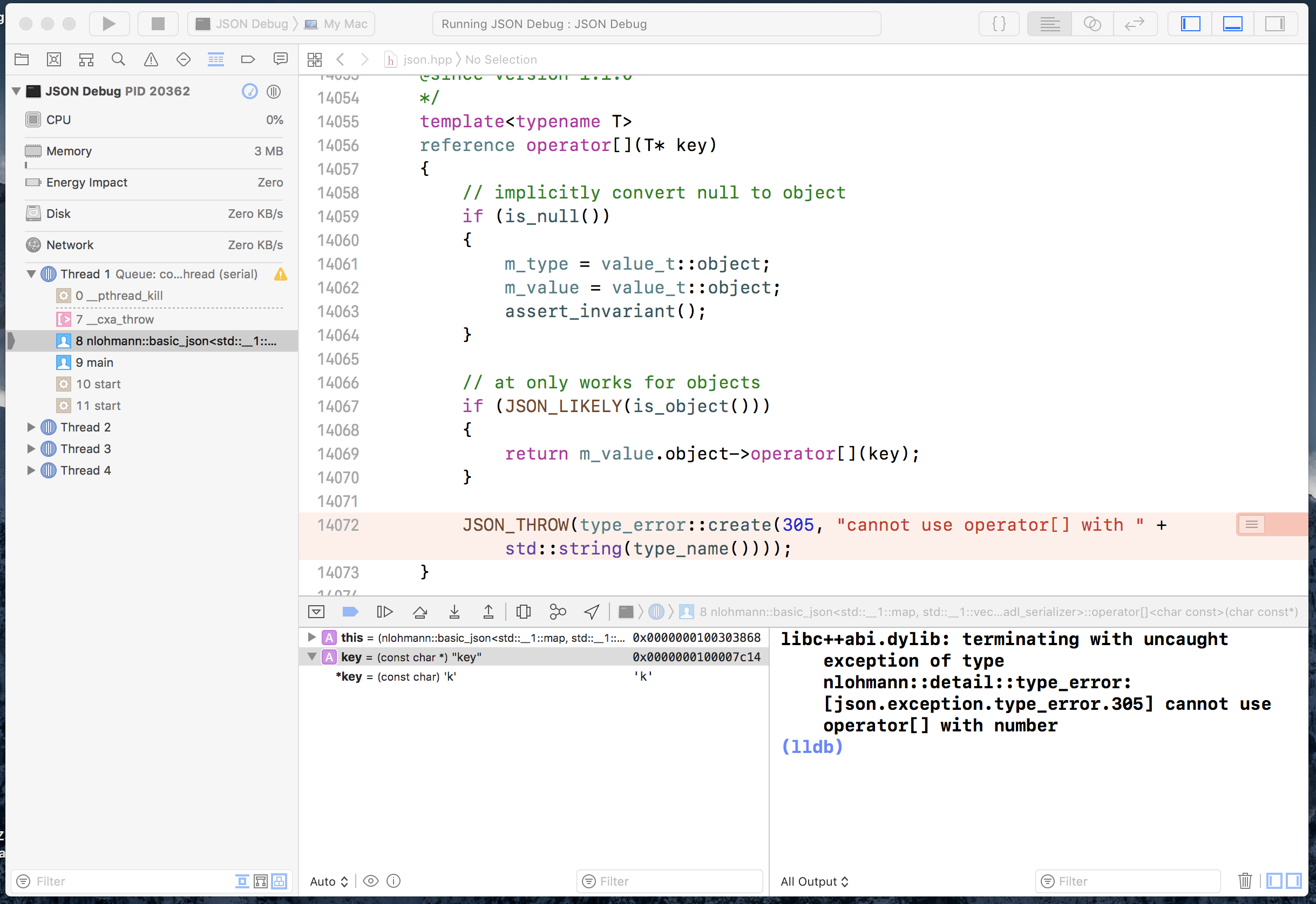 Add Key name to Exception · Issue #932 · nlohmann/json · GitHub