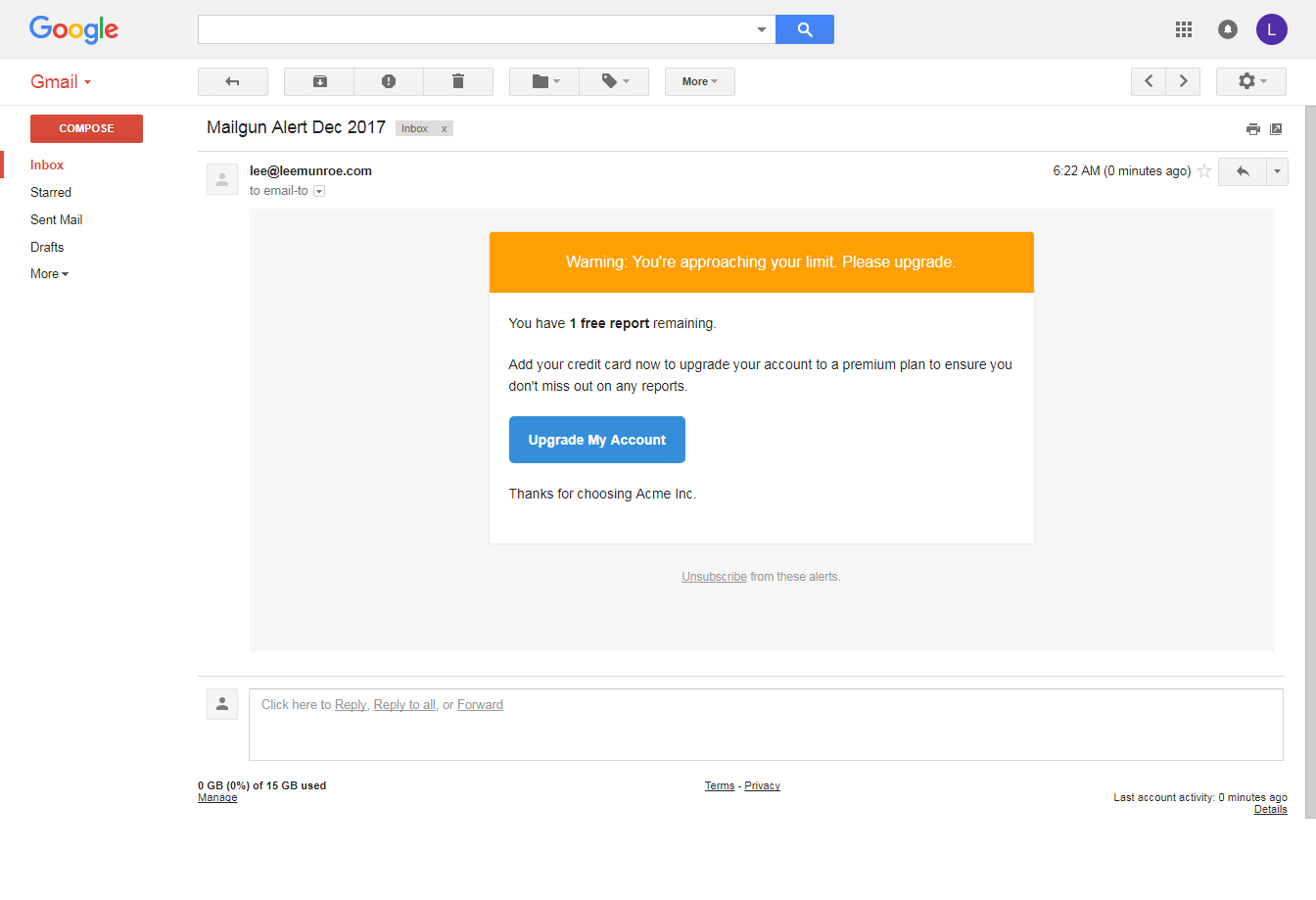 Email template not rendering correctly in gmail issue for Mailgun templates