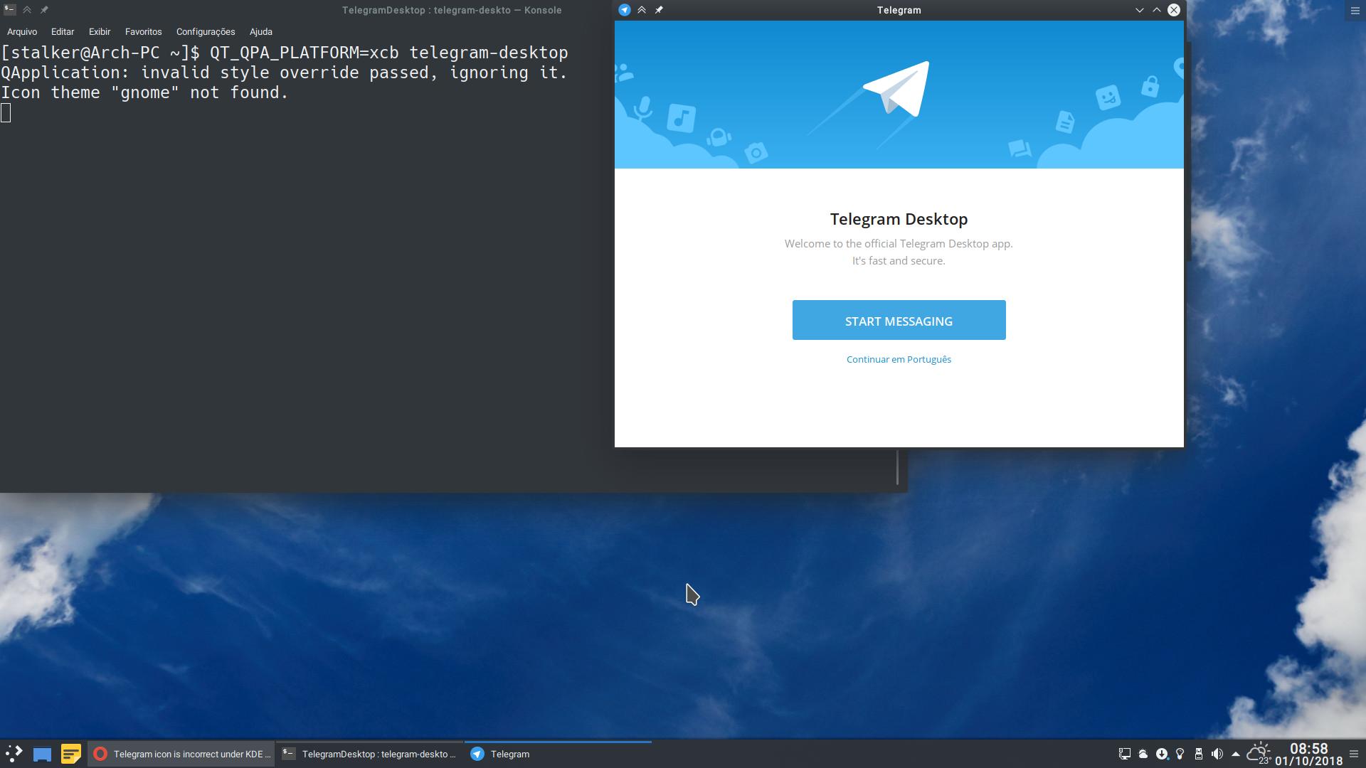 Telegram icon is incorrect under KDE Plasma Wayland session