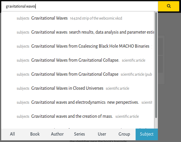 Search by subject