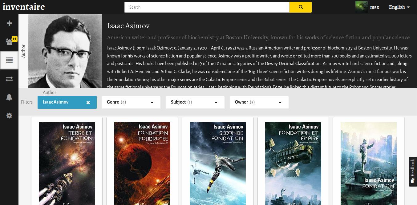 inventory browser asimov
