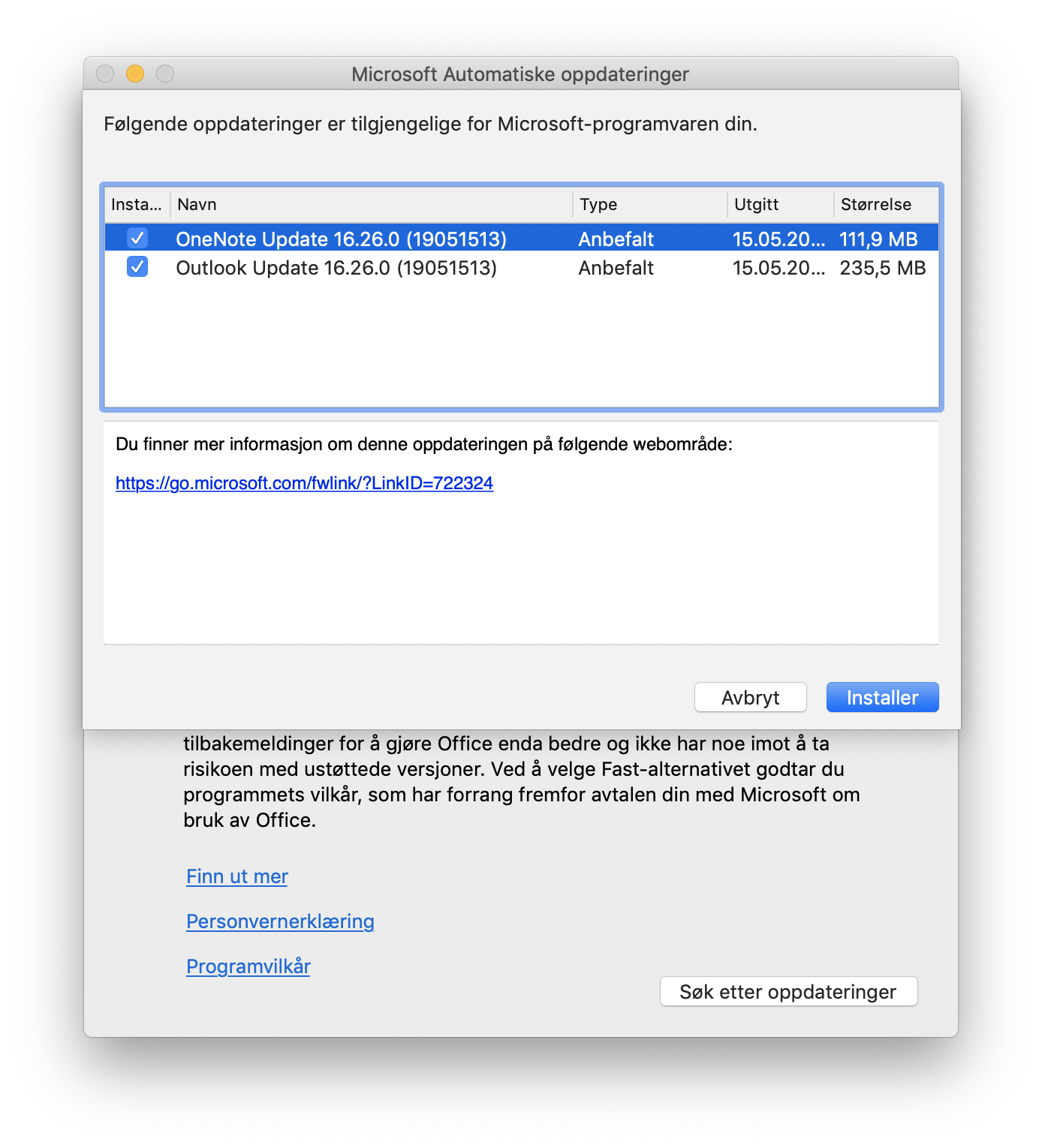 Release notes for OneNote for Mac (insider fast)? · Issue