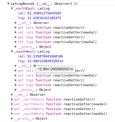 Polygon's bounding rectangle ( getBounds() ) not updated