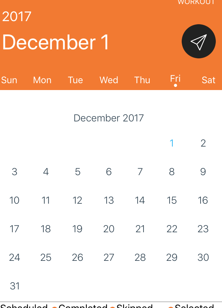 Remove month name and year from the top of calendar · Issue