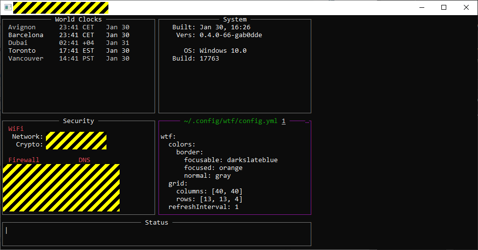 Does it work on Cygwin? · Issue #350 · wtfutil/wtf · GitHub