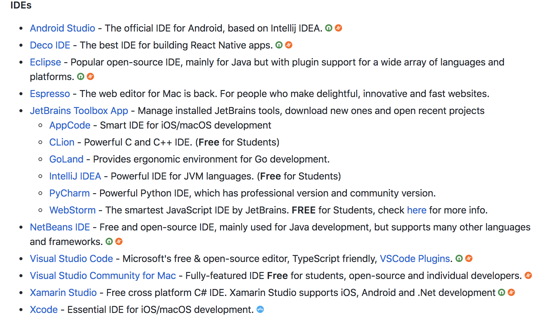 Reorganize IDEs · Issue #428 · jaywcjlove/awesome-mac · GitHub