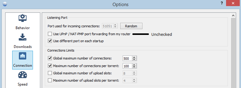 3 4 0] qBittorrent still attempts UPnP port mapping when