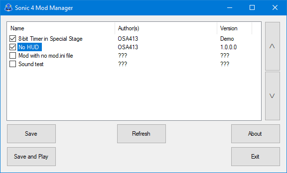 sonic 4 mod manager