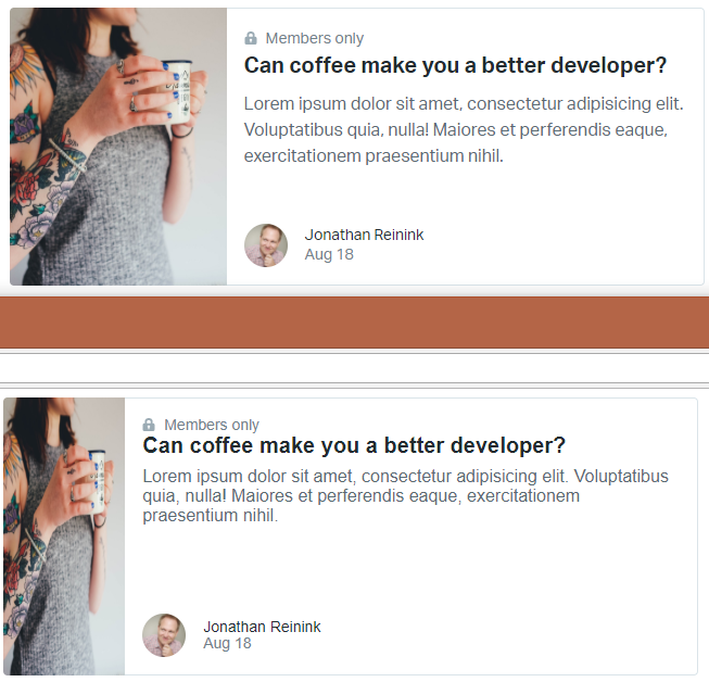 Issue with horizontal cards? · Issue #184 · tailwindcss