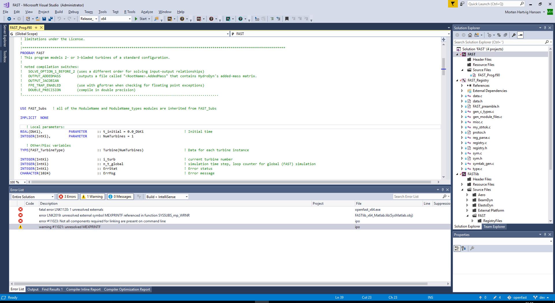Issue running OpenFAST with Simulink · Issue #198 · OpenFAST