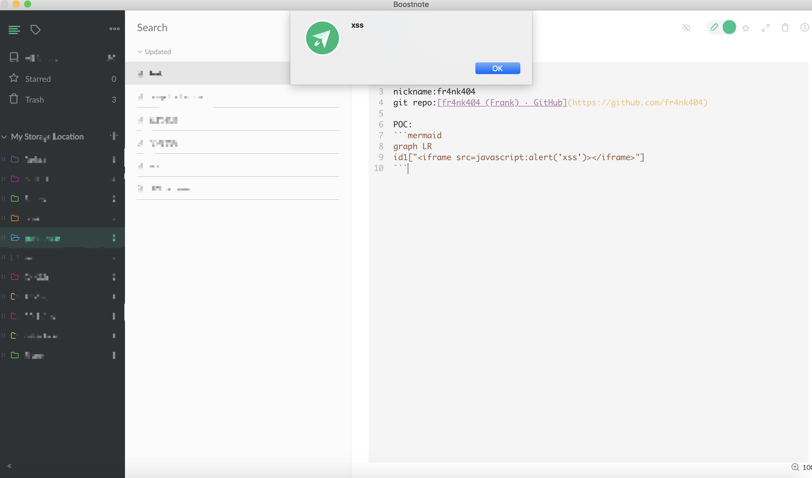 A xss on the newest version · Issue #3007 · BoostIO/Boostnote · GitHub