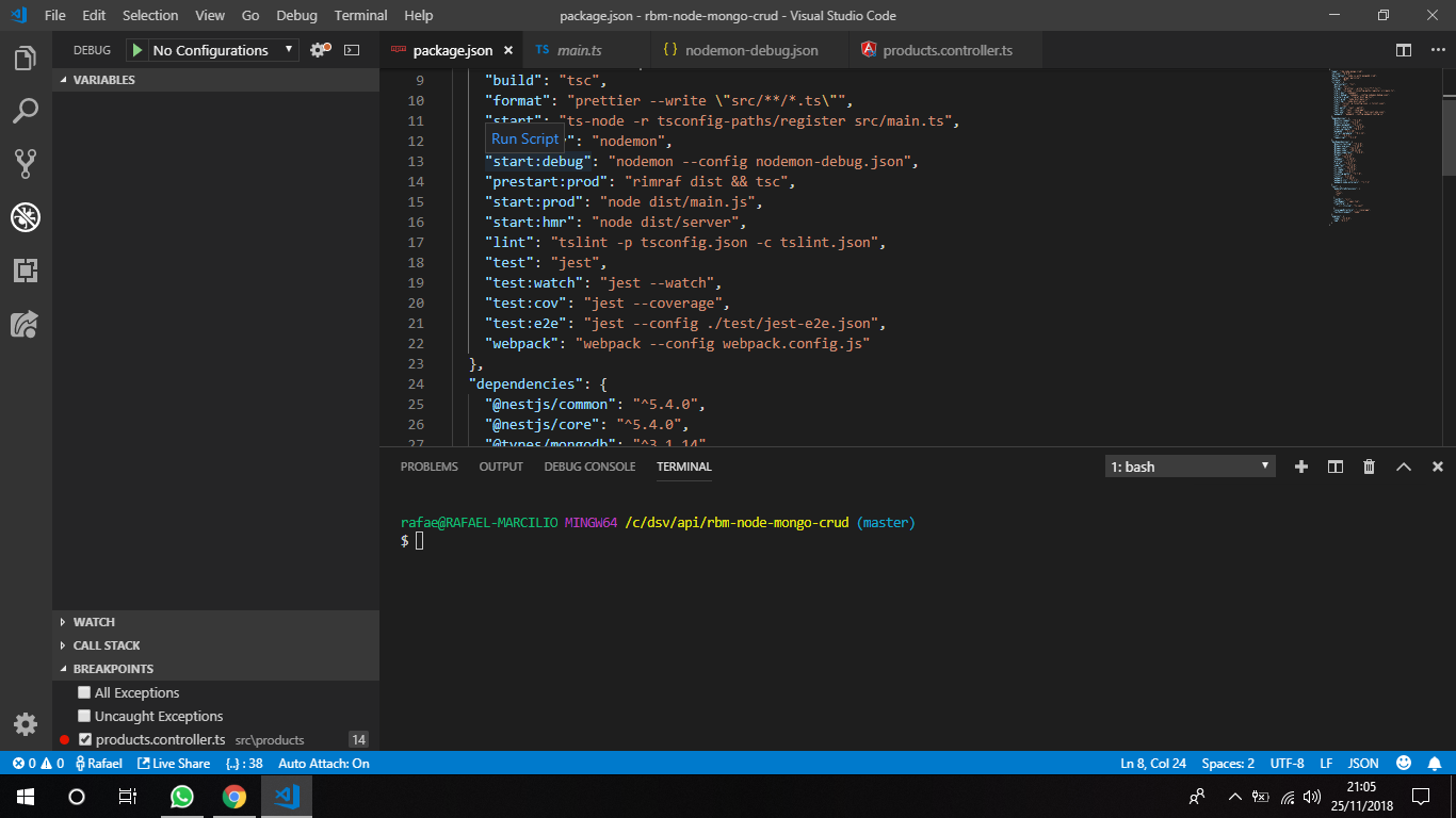 Unable to debug app in VS CODE · Issue #1109 · nestjs/nest · GitHub