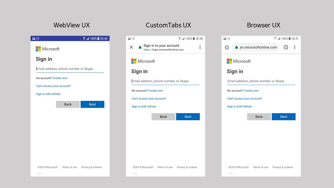 Customizing Browsers & WebViews · AzureAD/microsoft-authentication