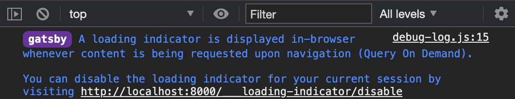 Picture showing a note in the browser console that explains on how to disable it