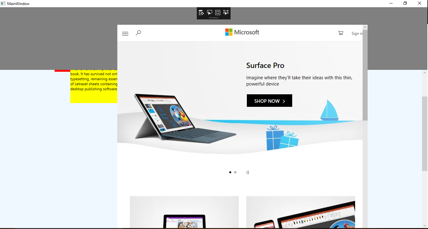 microsoft toolkit wpf ui controls webview control goes out