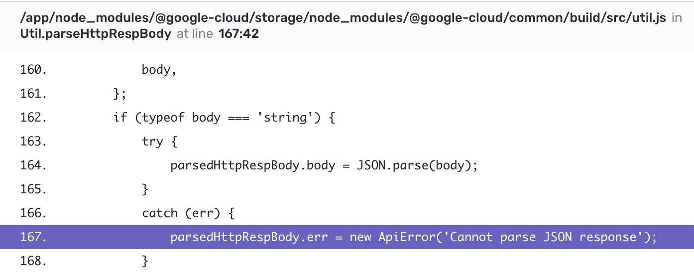 Error message in Node js console is not the orignial error