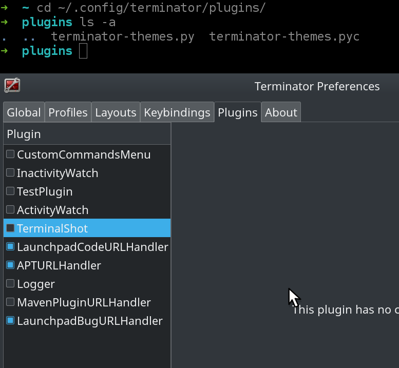 Plugin not being loaded · Issue #1 · EliverLara/terminator-themes