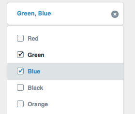 How can i create options with checkbox and toggle selected
