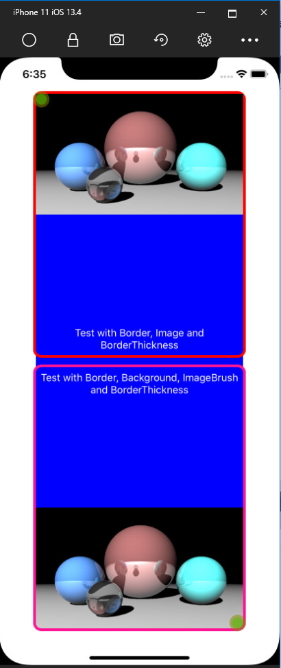 Ios Border With Cornerradius An Image And Borderthickness Doesn T Display Correctly Issue 3722 Unoplatform Uno Github