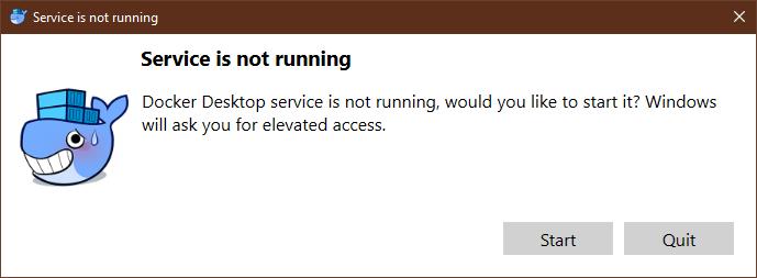 impatient whale: Docker desktop does not wait for Automatic
