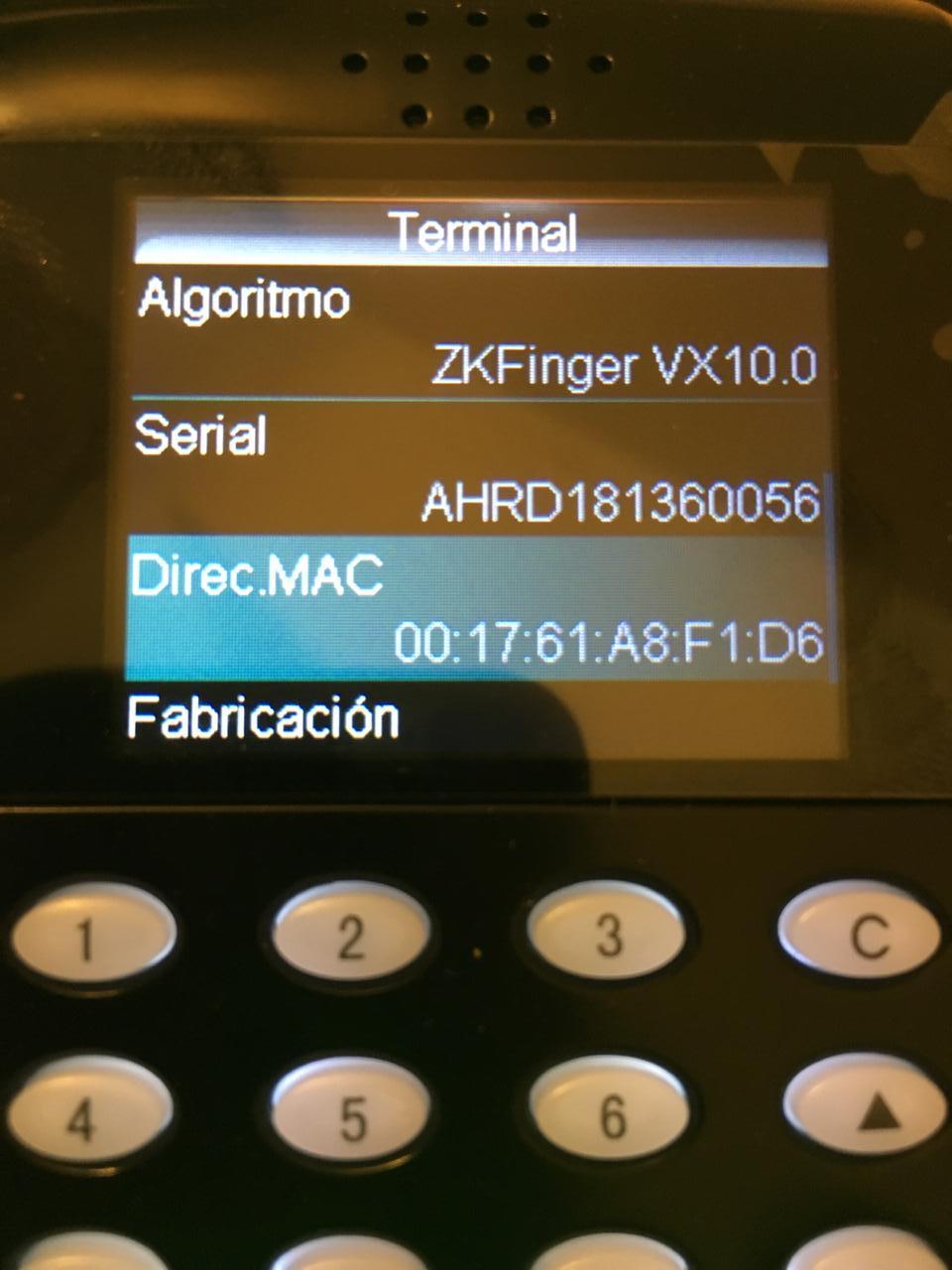 Imposible conectar con el dispositivo - ZKTECO SF200 · Issue #71