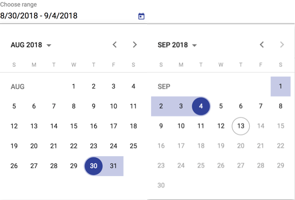 Suggestion: display two months in saturn datepicker · Issue #37