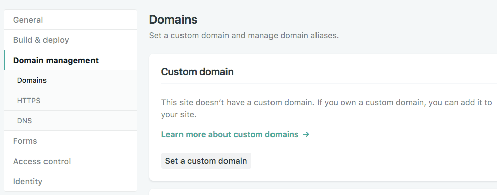 Configure domain on Netlify