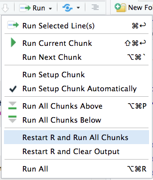 Restart R and Run All Chunks