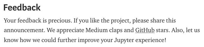 请大家在 Github 和 Medium 上踊跃点赞