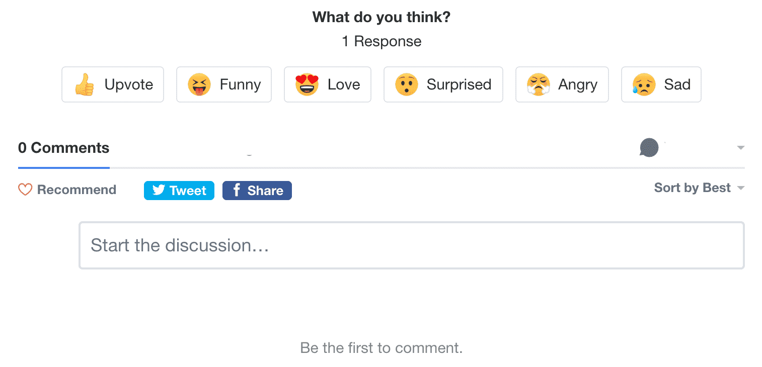 Disqus's new Reactions
