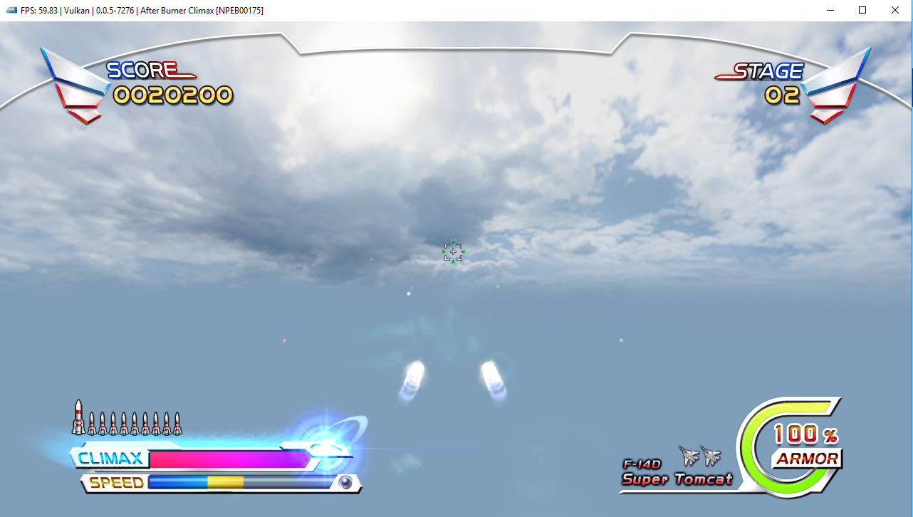 white background after burner climax vulkan and opengl