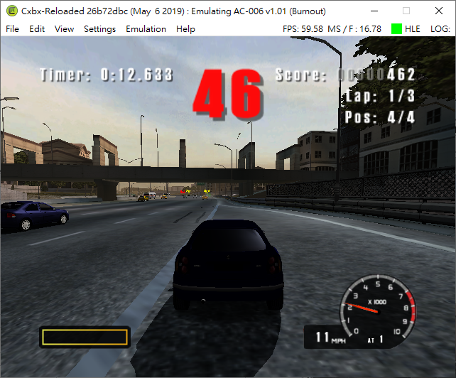 Burnout [41430006] · Issue #197 · Cxbx-Reloaded/game-compatibility